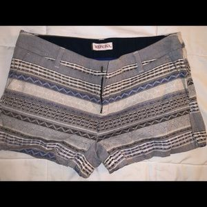 Merona cotton short shorts with vibrant designs.
